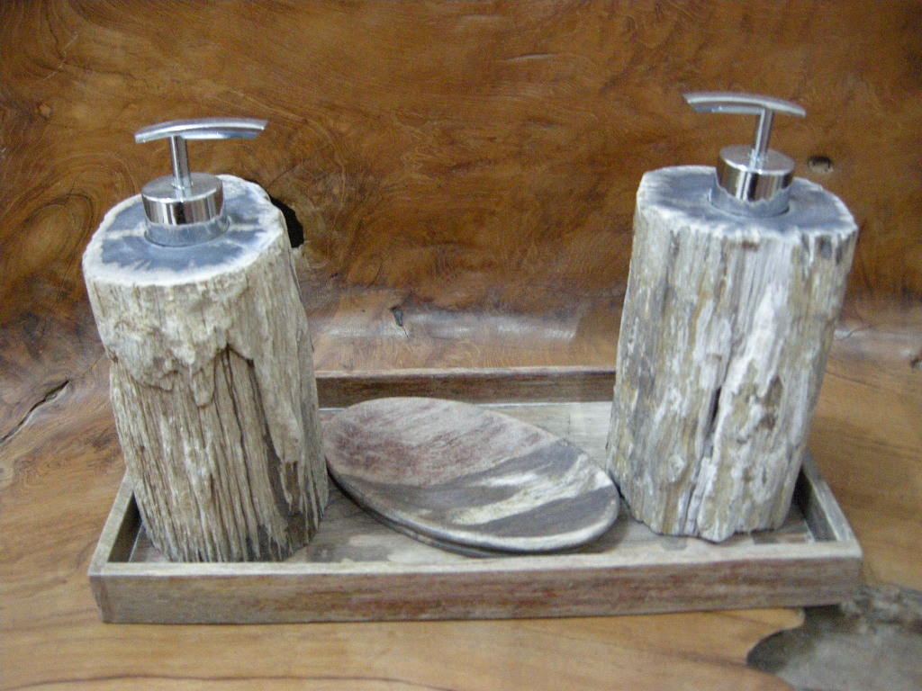Petrified wood bathroom accessories indogemstone for Marble bathroom accessories