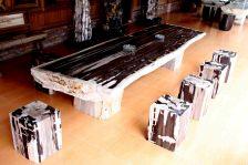IndoGemstone Petrified Wood Dining Table